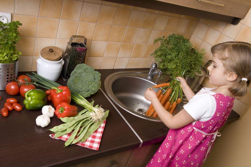 Warzywa i owoce w diecie dzieci