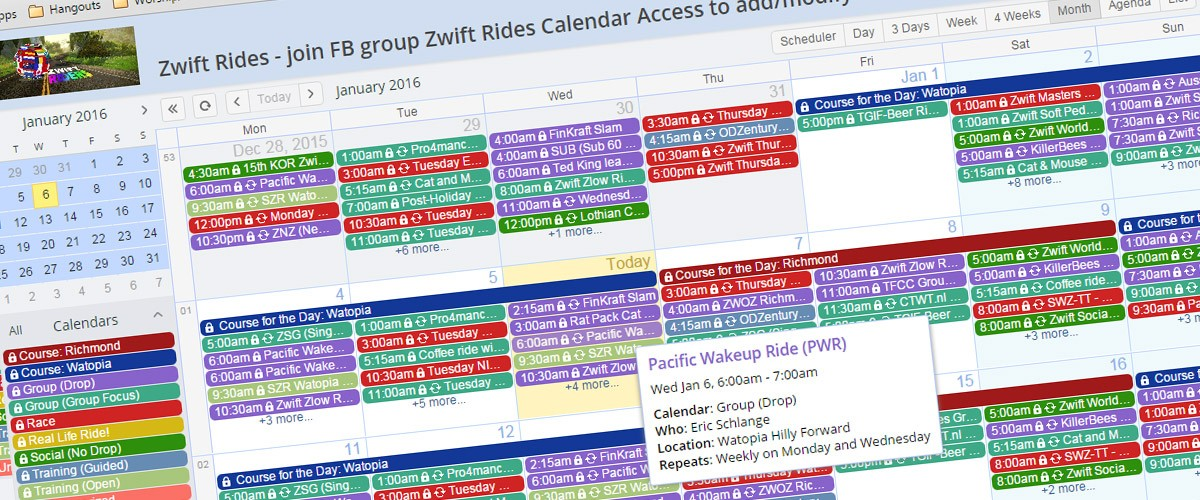 How to get the Zwift Teamup calendar on your iPhone