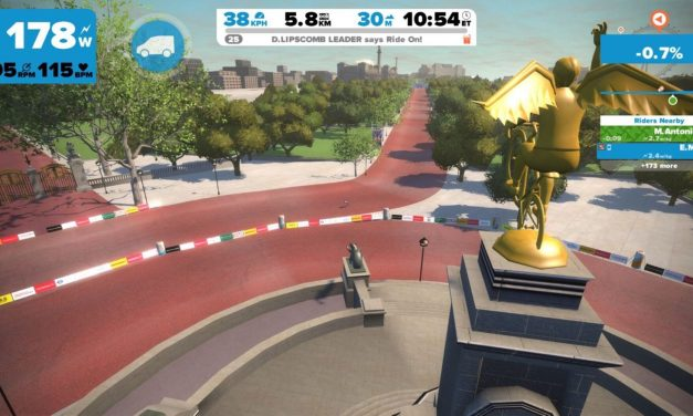 Zwift London PRL course map