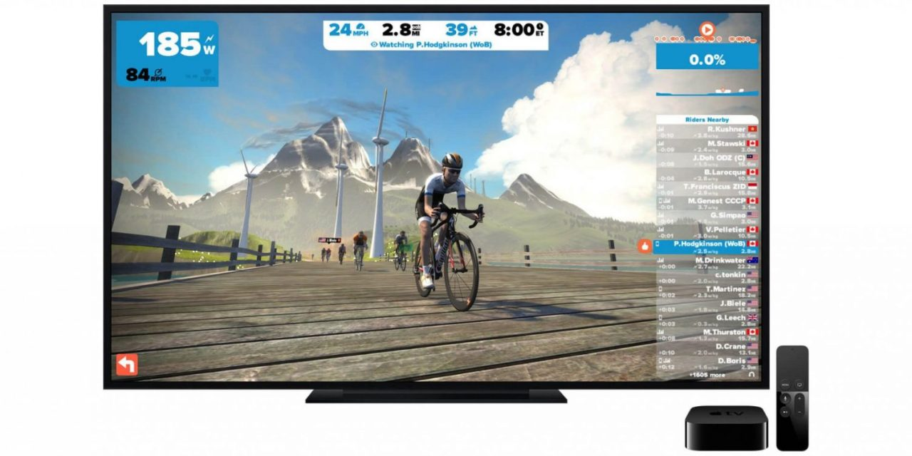 Zwift coming soon to Apple TV