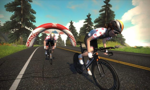 Sprint, KOM, and Lap Leader Jerseys in Zwift