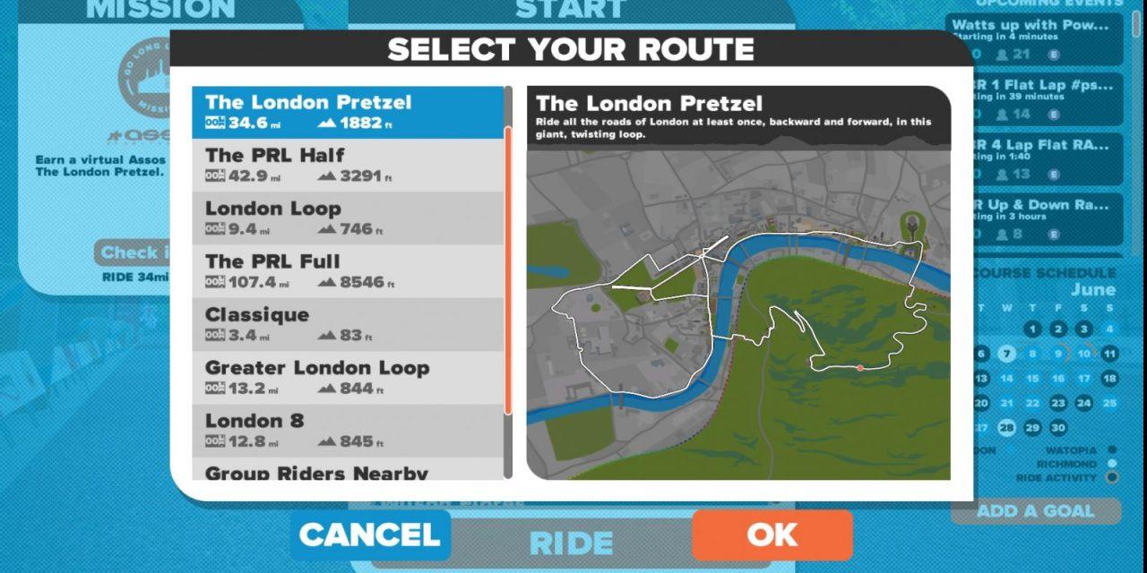 London Pretzel route details