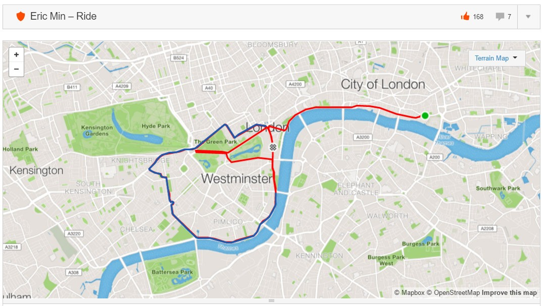 Eric Min's Strava teaser: new London route launching soon?