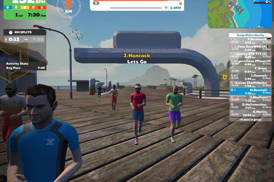 First Official Zwift Running Event