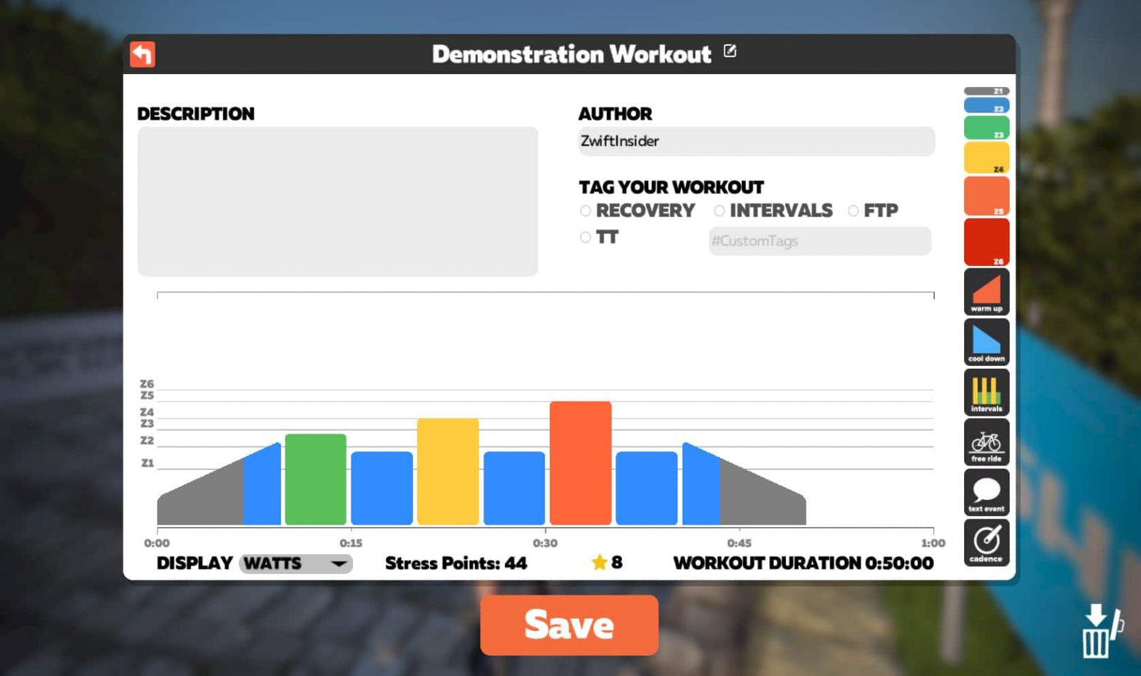 Creating Custom Workouts in Zwift