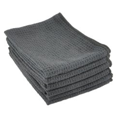 Kitchen Dish Towels Booth Plans Microfiber Waffle Weave Towel 6 Pack Black Zwipes Home