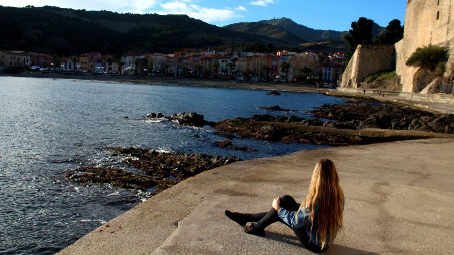 An Januartagen hat man die Bucht vor dem Château Royale fast ganz für sich alleine.