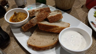 Brot mit Dips