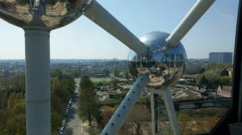 Aussicht von oben auf Mini-Europa