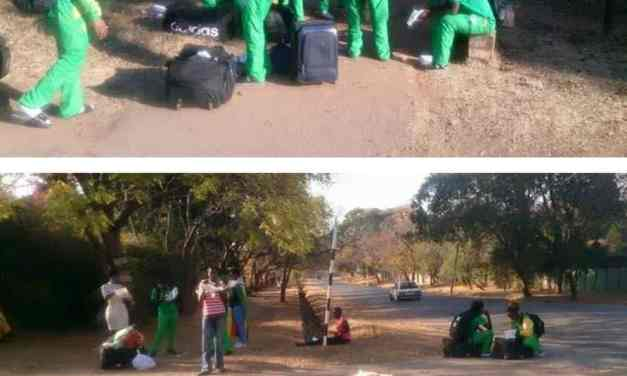 Pictures: Zim Mighty Warriors Dumped By Roadside After Rio 2016 Olympics