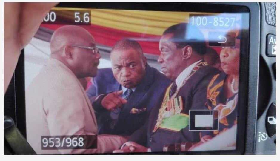 VIRAL picture of Chiwenga 'angry' with Mnangagwa