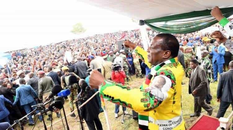 My coronavirus directive is not yet applicable: Mnangagwa tells Zanu PF supporters..VIDEO