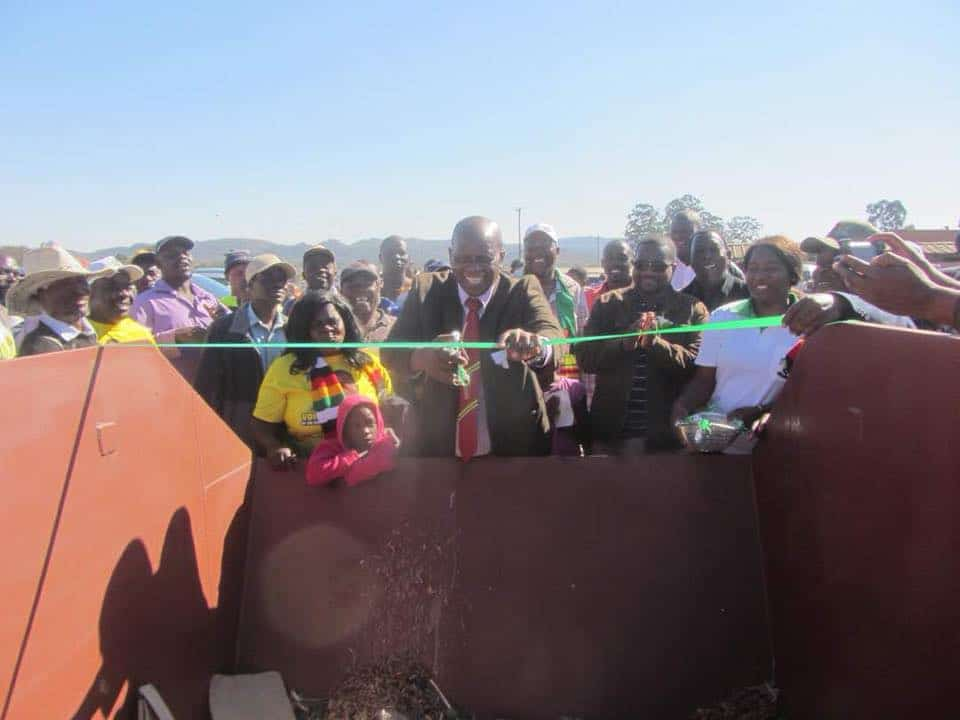 PICTURES: Chinamasa officially opens a rubbish BIN in Rusape | ZIM LATEST NEWS | Zimbabwe News Update Today Zwnews