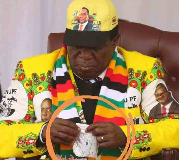 President Mnangagwa must be so unwell that he is by now incapacitated..Report