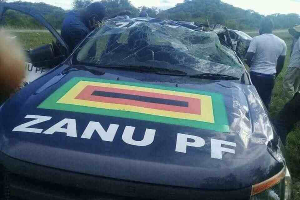 NOT AGAIN..Another Zanu PF car wrecked, 3 accidents in 4 days..Do they need to hire or rent cars in Harare Zimbabwe