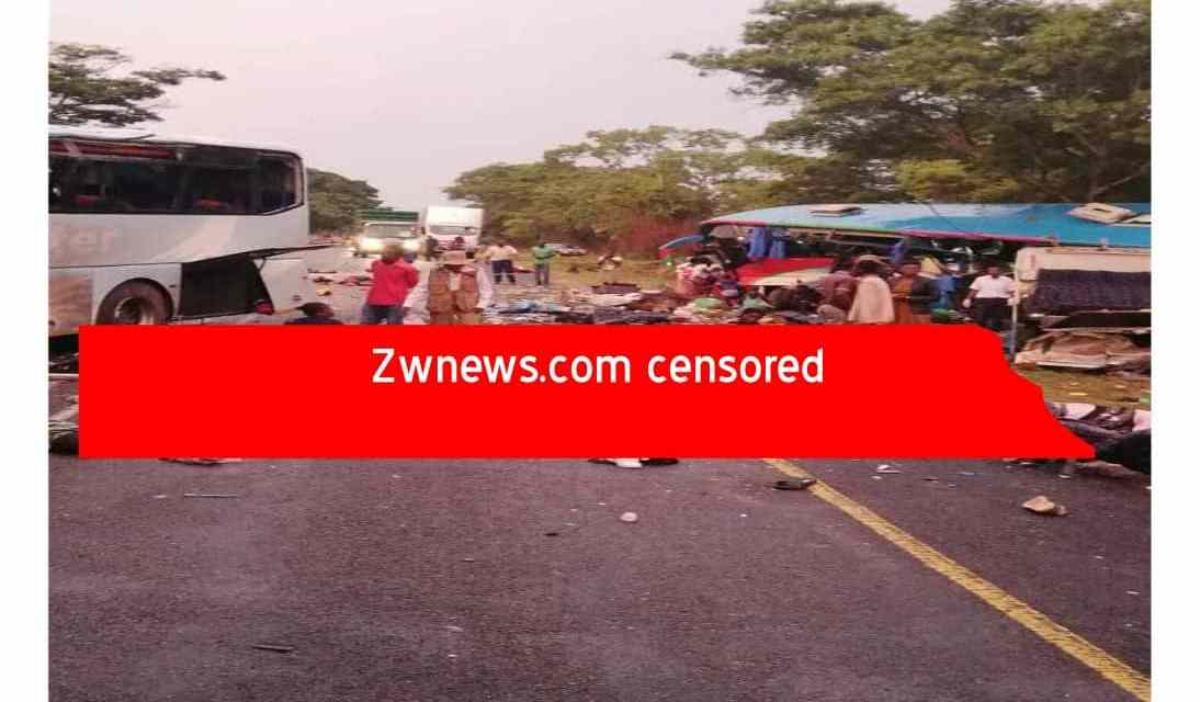 BREAKING: 47 people killed in Rusape horror bus accident…Smart Express-Bolt Cutter buses Pictures
