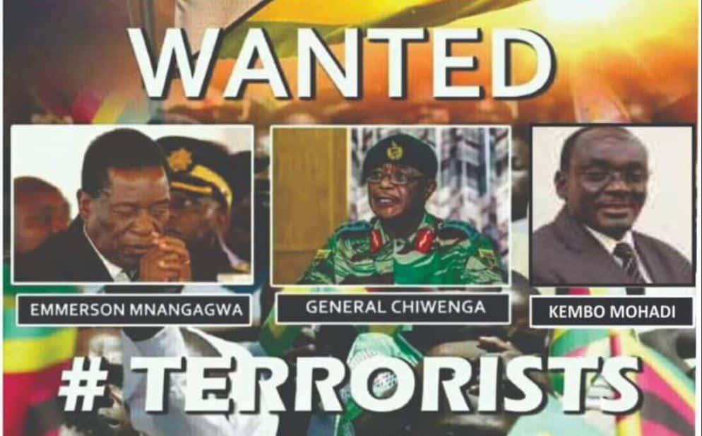 Man arrested for threatening Chiwenga..said VP is terrorist, criminal
