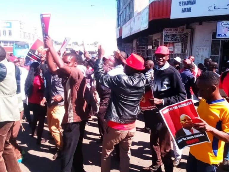 Just In: Sikhala's Arrest Triggers Demo (see pics)