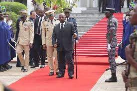 VIDEO: Gabon President Ali Bongo uses stick to walk, Wheelchair after stroke..Pictures