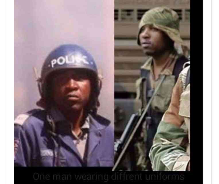 Clever Makova:  Pictures of the brutal soldier in police uniform?