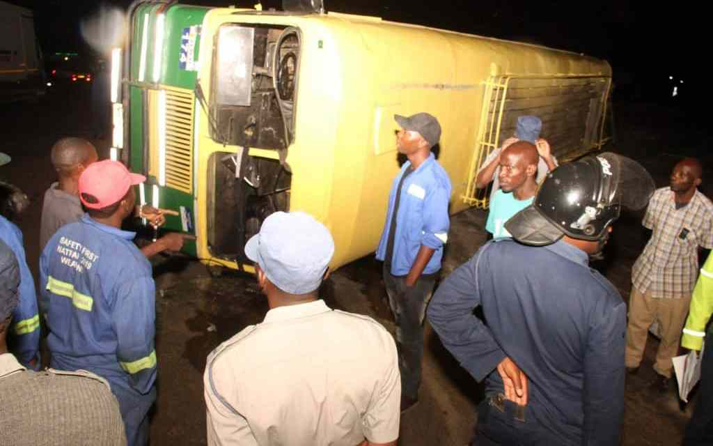 ZUPCO hit by train after driver fails to stop at rail crossing..PICTURES