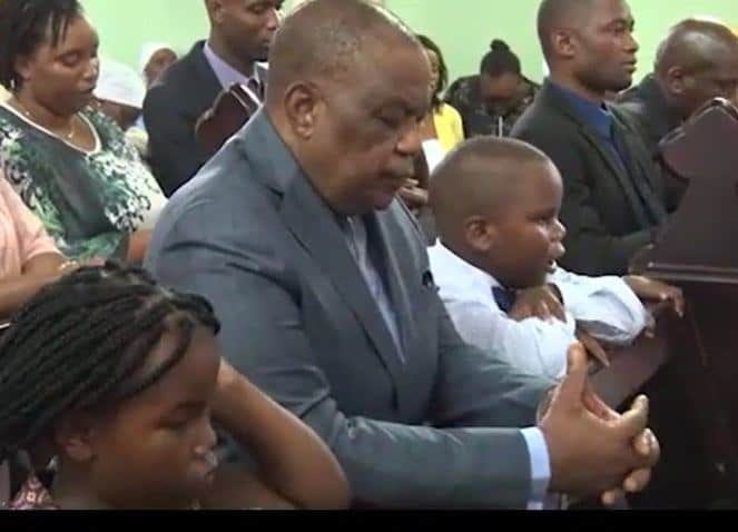 """Latest: Chiwenga at Holy Communion with swollen face, """"abducted"""" children..Church video, pictures"""