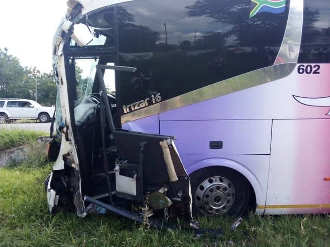 LATEST: Intercape bus involved in road accident in Masvingo today, Bus driver killed on the spot