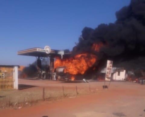 Ruwa ram service station up in smoke