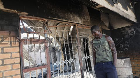 LATEST: Businessman left counting losses as US$50 000 hard cash is burnt to ashes in Chitungwiza inferno… PICS
