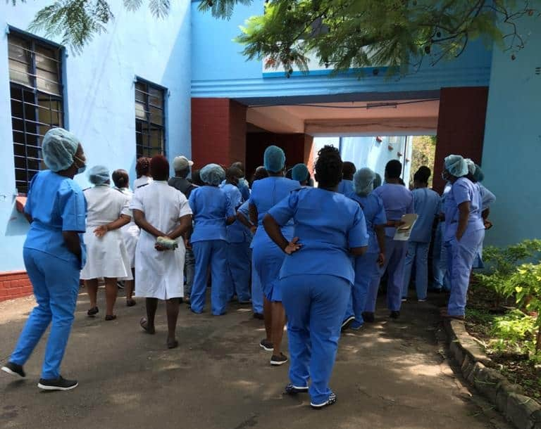 Sally Mugabe Hospital nurses refuse to work, Covid-19 death of Matron, 22 people positive…PICTURES