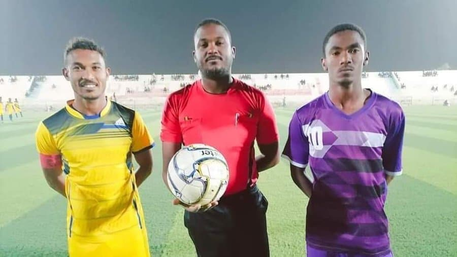 3 Brothers: When 3 Sudan siblings took to the field in different colours for Aljalla vs Alhaddaf match..PICTURE