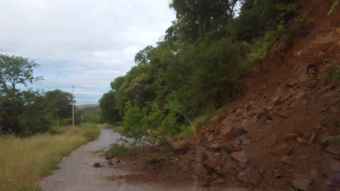 Heavy rains cause rock fall in Kariba, road section blocked