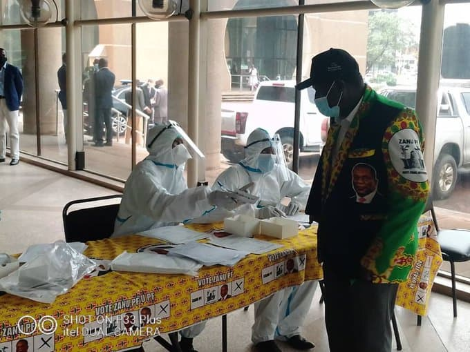 UPDATE: ZANU PF Politburo meeting on this afternoon…PICTURES…