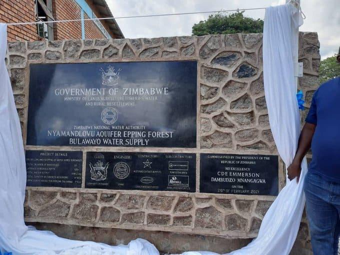 President Mnangagwa commissions Nyamandlovu Aquifer water project…PICTURES…