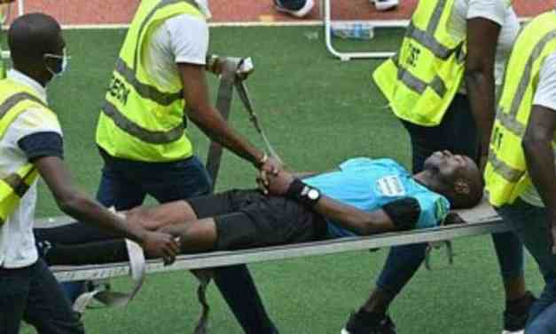 VIDEO: Ghana referee Charles Bulu collapses during Ivory Coast vs Ethiopia Afcon match