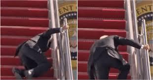 Joe Biden falls three times stumbling up stairs of Air Force One…VIDEO…
