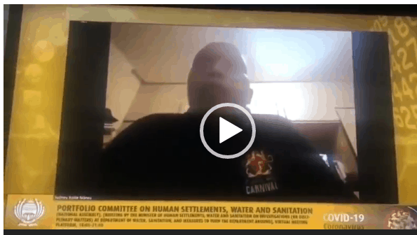 WATCH VIDEO: Chief Xolile Ndevu's naked wife causes chaos on SA Traditional Leaders live zoom meeting