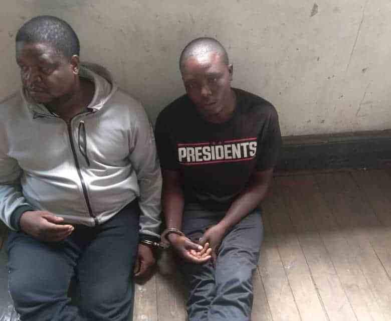 …PICTURES…Two suspected ZESA vandals nabbed