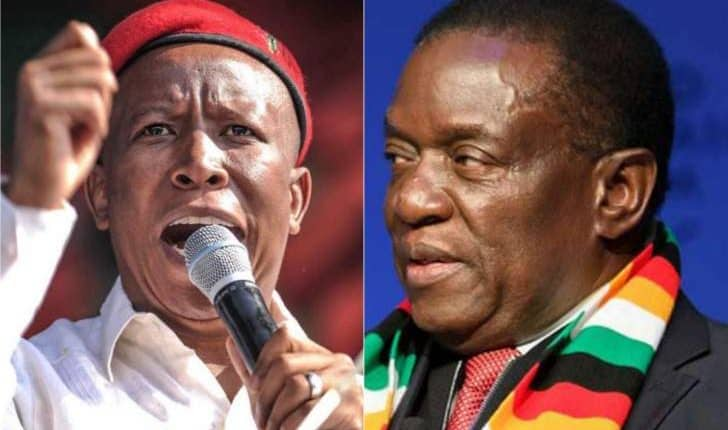 …VIDEO…EFF leader Julius Malema fights xenophobic and threats against 'Zimbabweans'