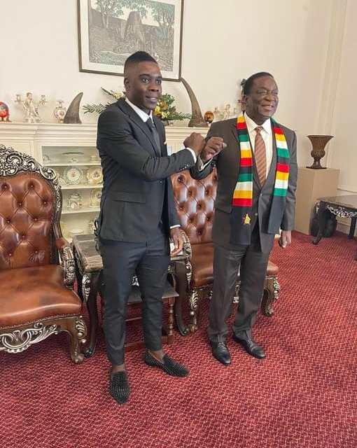 President Mnangagwa hosts Warriors midfielder, Nakamba