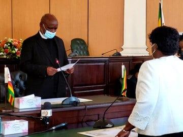Embattled CJ Luke Malaba swears in new Judge President