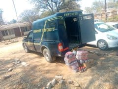 Fawcett Security vehicle intercepted by police transporting liquor… PICTURES…