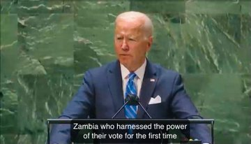 VIDEO: US President Joe Biden commends Zambian youths for voting out 'corrupt, oppressive' regime