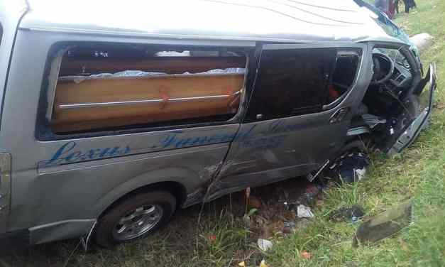 Zim man killed as hearse carrying late brother's body from SA crashes in head on collision