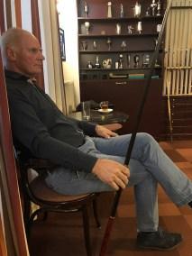 Hilbert Jonkman wacht rustig op zijn beurt