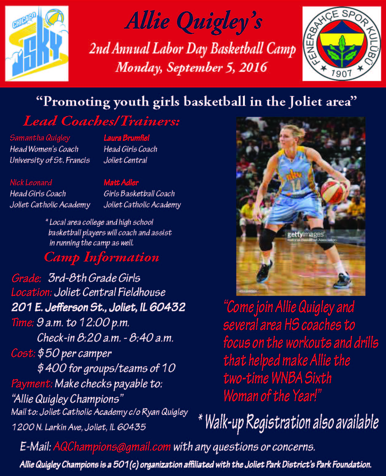 Basketball Camp Flyer For Youth
