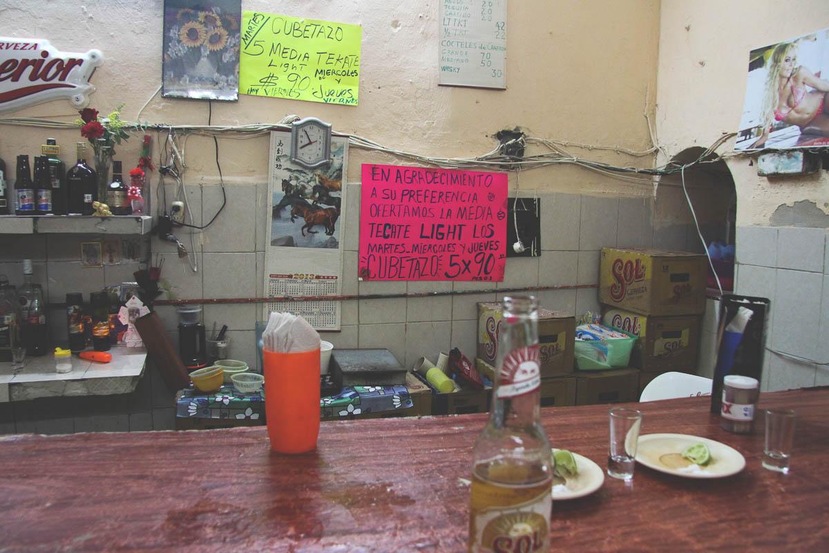 Meksykański bar wmieście Merida