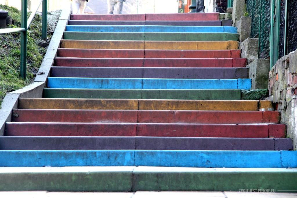 Kolorowe schody wKrakowie