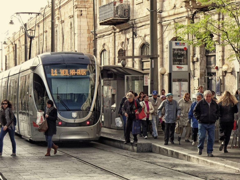 Nowoczesne tramwaje w Jeruzalem