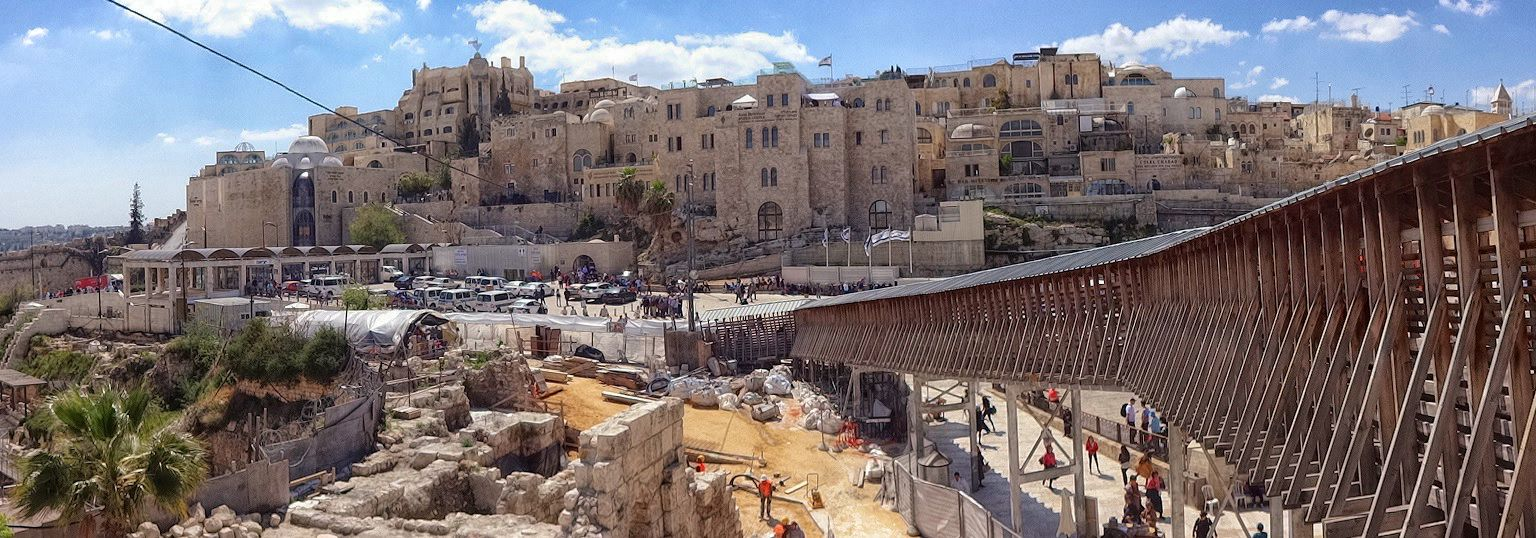 Wejście na wzgórze świątynne rampa jerozolima część muzułmańska